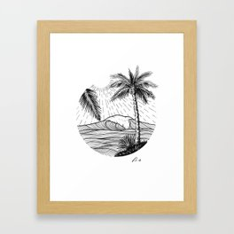 Tropical wave Framed Art Print