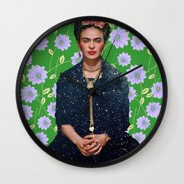 Flowers Frida Kahlo VI Wall Clock