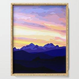 Triglav (2864m) Sunset Serving Tray