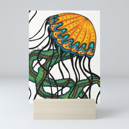 Yellow & Green Sea Nettle Mini Art Print