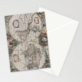 Vintage Map of The World (1630) Stationery Cards