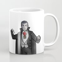 dracula Mugs featuring Dracula by David Casciani