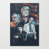 house of cards Canvas Prints featuring House of Cards by Barel Toledano