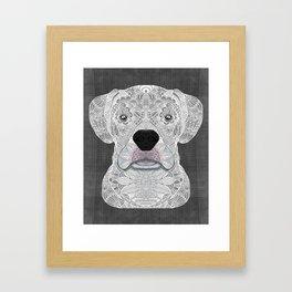 White Boxer Framed Art Print