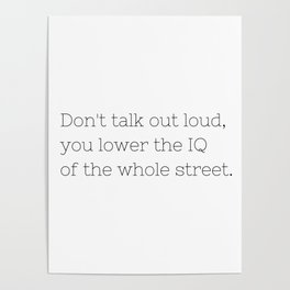 Don't talk - Sherlock - TV Show Collection Poster
