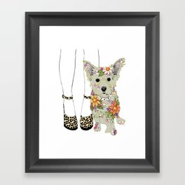 Milly and Me Framed Art Print