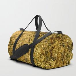 Real Golden Texture Duffle Bag