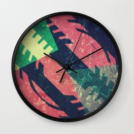 Vibrant Geometric Wall Clock