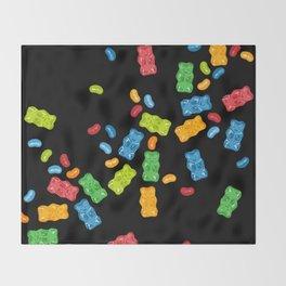 Jelly Beans & Gummy Bears Explosion Throw Blanket
