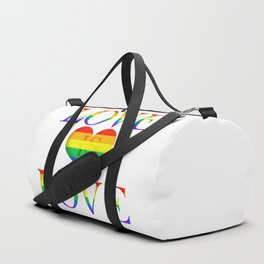 Love is Love Minimalist Pride Art With Heart Duffle Bag
