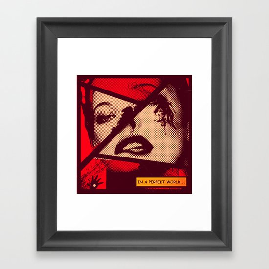 PERFEKT WORLD Framed Art Print