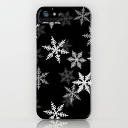 Black and White Winter iPhone Case