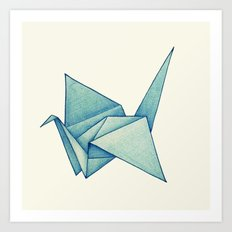 High Hopes | Origami Crane Art Print