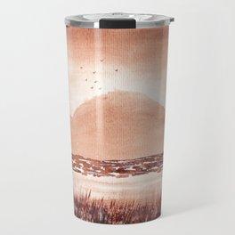 Monochromatic Landscape Painting Travel Mug