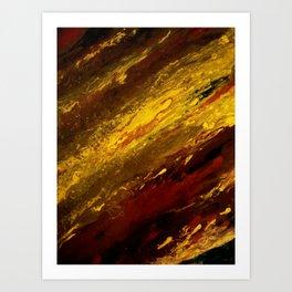 Tiger`s Eye -abstract modern painting Art Print