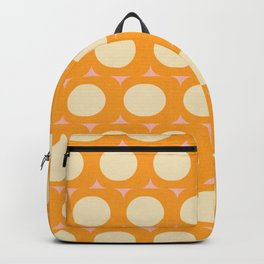 Dots and Triangles Yellow  #midcenturymodern Backpack