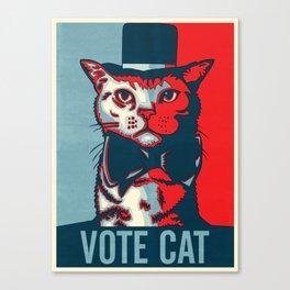 Vote Cat Canvas Print