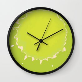 Splat on Green - by Friztin Wall Clock