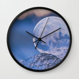 A Single Snowflake (Color) Wall Clock