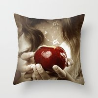 fairy tale Throw Pillows featuring Fairy Tale by Judy Hung