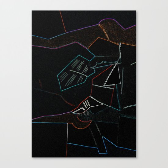 Cubist Trails Canvas Print