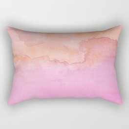 Watercolor Pink Orange Duo Rectangular Pillow