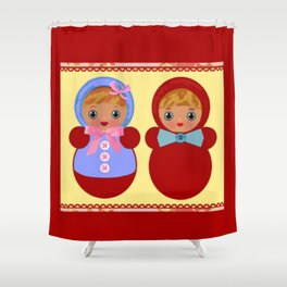 Gender Roles Shower Curtain