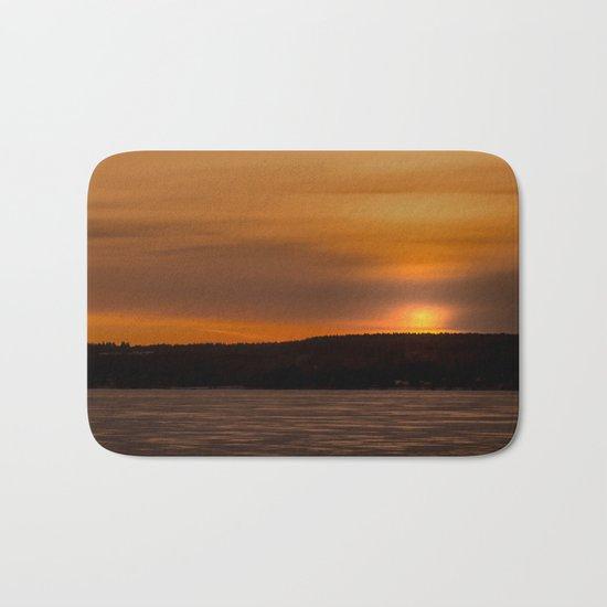 Sunset in December Bath Mat