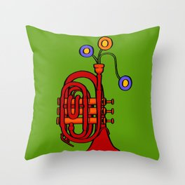 Happy to see my pocket trumpet Throw Pillow