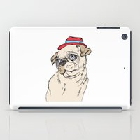 pug iPad Cases featuring Pug by Madmi