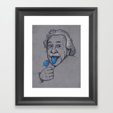 Blue Tongue Framed Art Print