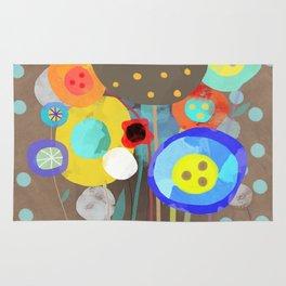 Blue Polka Dots - Ruth Fitta-Schulz Watercolour Art 2017 Rug