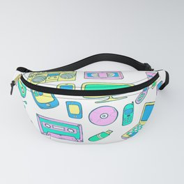 Old electronic things sketch Fanny Pack