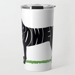 Black Lab named Bowen Travel Mug
