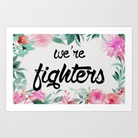 foo fighters Art Prints featuring fighters by Pat Taveras