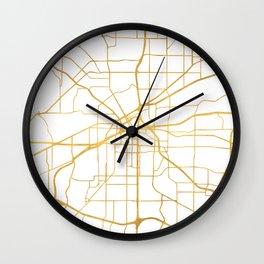 FORT WORTH CITY STREET MAP ART Wall Clock