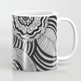 Flowers Abstract monochrome drawing pattern Coffee Mug