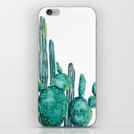 cactus jungle watercolor painting iPhone Skin