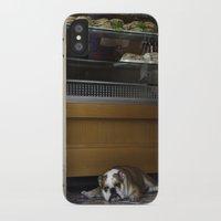 english bulldog iPhone & iPod Cases featuring English Bulldog by sovichka