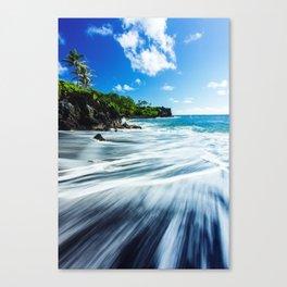 Waianapanapa Black Sand Beach Maui Canvas Print