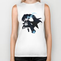 vocaloid Biker Tanks featuring Black Rock Shooter by Nozubozu