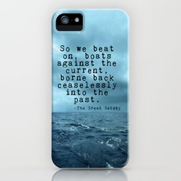 So we beat on - Gatsby quote on the dark ocean iPhone Case
