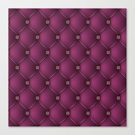 Purple Upholstery Pattern Canvas Print