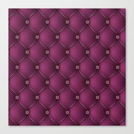 Purple Upholstery Pattern Canvas Print