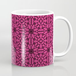 Pink Yarrow Lace Coffee Mug