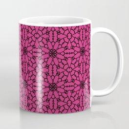 Pink Yarrow Lace Coffee Mug