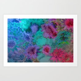 Flowers abstract #2 Art Print