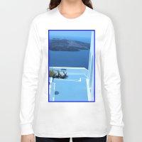 greek Long Sleeve T-shirts featuring Greek Holiday by Brian Raggatt