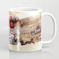 ohio state Mugs featuring Ohio State by Rosaria B