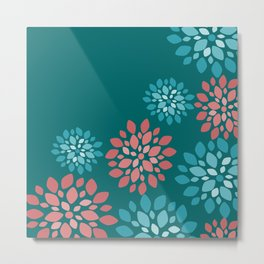 Flower Flurries Metal Print